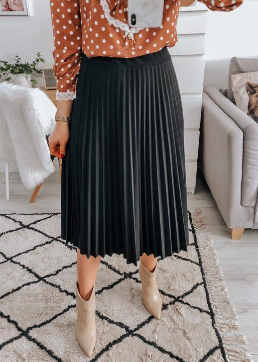 Plisowana spódnica (czarna)